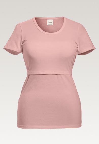 BOOB Design. Imetys t-paita mauve, joka sopii odotus- ja imetysaikaan.
