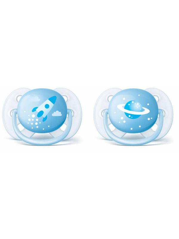 Philips Avent Ultra soft -tutin pehmeä, pyöristetty ja joustava suojus mukailee vauvan kasvoja.