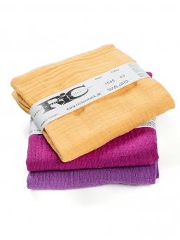 Harsosetti puuvilla 3-pack (oranssi-violetti)