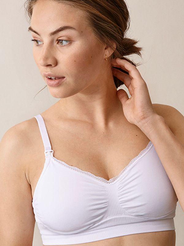 Boob Design saumaton imetysliivi, jotka pehmeän materiaalin ansiosta muotoutuvat rinnan muuttuvan koon mukana.