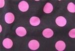 Ruskea / pinkki isopallo -pipo