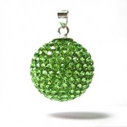 BOLA - kristalli 18mm (limen vihreä)