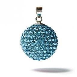 BOLA - kristalli 18mm  (aqua sininen)