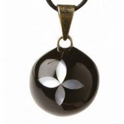 BOLA - musta helmiäis kukalla