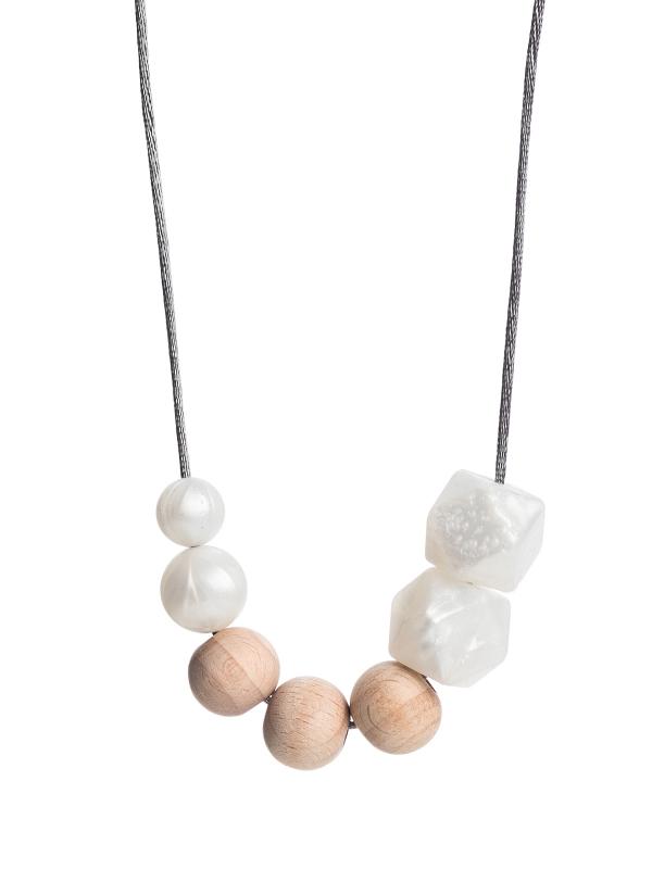 Imetyskoru (nature helmiäinen-metallivalkoinen)