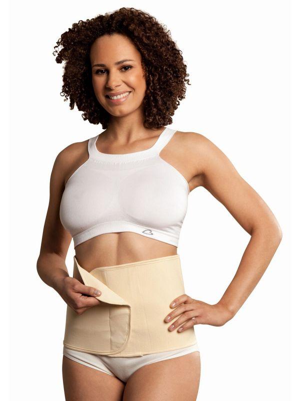 Joustava puuvillainen Carriwell Belly Binder tukivyö, jolla pääset pikaisesti raskauden jälkeen entisiin mittoihisi.