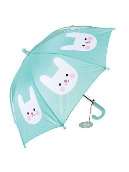 Cookie the Cat lasten suloinen sateenvarjo syksyyn ja sateeseen.