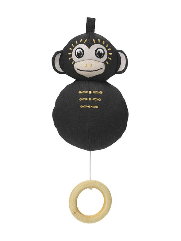 Kaunista sävelmää soittava pehmeä Elodie Details apina soittorasia. Suloinen musta apina, jonka narua vetämällä saat kauniin sävelmän soimaan.
