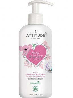 Erittäin lempeä, luonnollinen ja tuoksuton Attitude Baby leaves pesuneste on suunniteltu vauvoille, joilla on haju- ja tuoksuherkkyys.