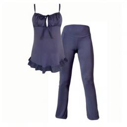 Raskaus- ja imetysajan pyjama DELICIOUS (slate-blue)