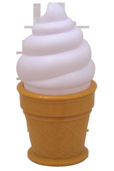 Jäätelö yövalo (valkoinen)