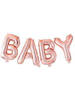 Ginger Ray folioilmapallo Baby, ruusukulta