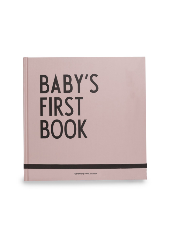 Design Letters Baby´s First Book vauvakirja (rosa)