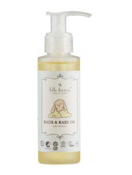 Lille Kanin vauvaöljy/kylpyöljy on kosteuttava öljy. Öljyn runsas E-vitamiinipitoisuus sekä luomulaatuiset öljyt hoitavat ihoa. Hiero öljyä vauvan päänahkaan karstan poistamiseen.