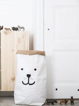 Paperipussi, josta tulee helposti lastenhuoneen silmäterä. Pussit ovat tämän hetken IN tuote lastenhuoneen sisustuksessa. Löydät upeita lastenhuoneita Instagramista, joissa on käytetty Tellkiddo paperipusseja.