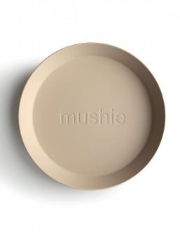 Mushie lapsen polypropyleenimuoviset lautaset, 2-pack. Lautasia voi kuumentaa mikroaaltouunissa ja pestä astianpesukoneessa. Kaunista, helppoa ja vaivatonta ruokailua.