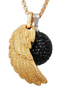 BOLA - musta kristalli + kultasiipi