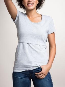 BOOB Imetys T-paita Classic (grey melange)
