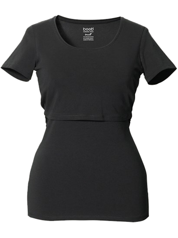 BOOB Imetys T-paita Classic (musta | valkoinen)
