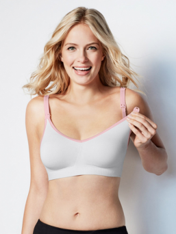 BRAVADO the body silk seamless imetysliivit (white blush)