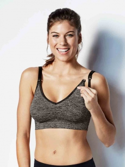 BRAVADO the body silk seamless Yoga imetysliivit (harmaa)