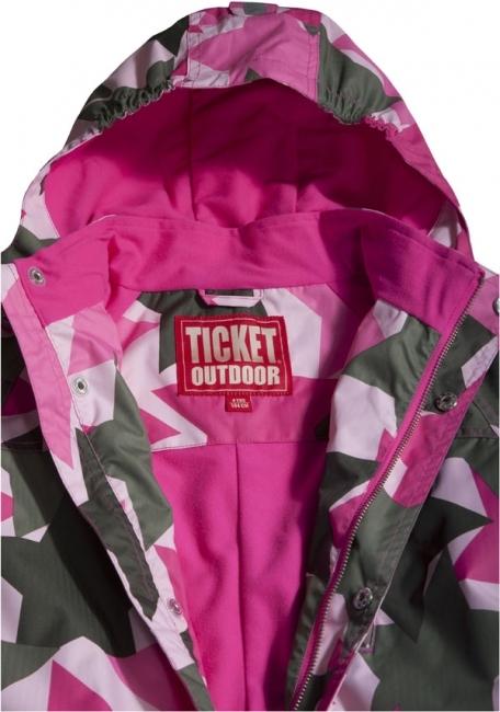 Ticket Outdoor Neville Soft Pink Stars Välikausihaalari