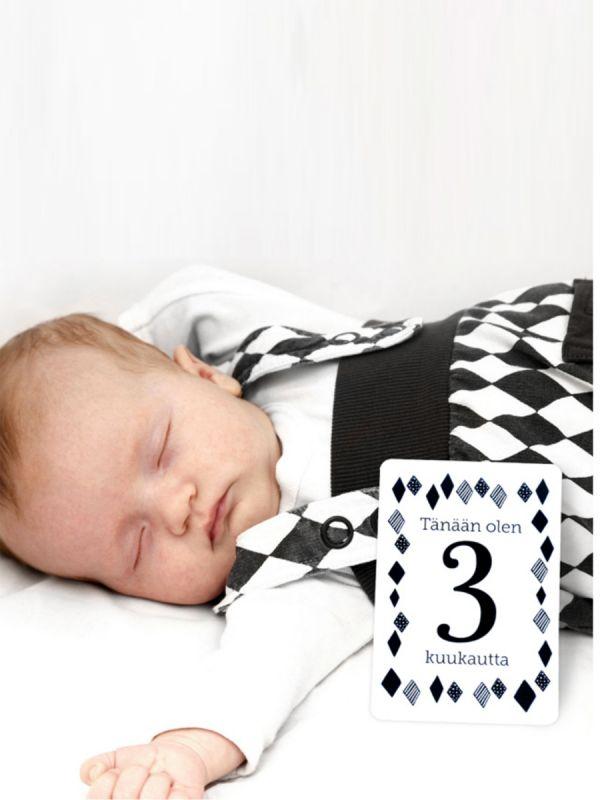 Vauvan vuosi - korttipakka | CAMALA (mustavalkoinen)