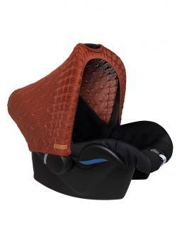 Suojaava kuomu vauvan turvakaukaloon | Baby's Only (brique punainen)