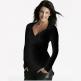 Äitiys- ja imetyspaita Crossover Shirt (musta)