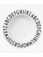 Design Lettersin lastenmalliston syvä melamiinilautanen on särkymätön ja kevyt.