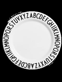 Design Lettersin lastenmalliston melamiinilautanen on särkymätön ja kevyt.