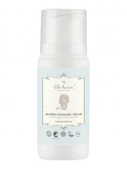 Lille Kanin Diaper-Changing Cream voide pitää ihon kuivana vaipan alla imemällä vaipan kosteutta. Samalla se suojaa ja hoitaa ihoa.