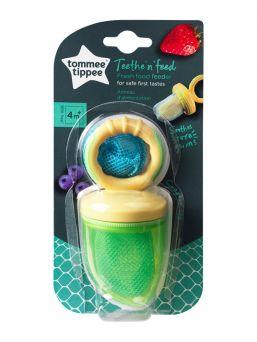 Tommee Tippee Fresh Food Feeder vauvan syömäapu, jolla lapsi voi turvallisesta maistella vihanneksi ja hedelmiä.