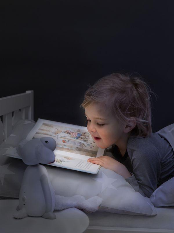 Zazun Fin -lammas on sekä luku- että yövalo. Valossa on kaksi voimakkuutta, kirkkaampi valo lukuhetkiä varten ja pehmeämpi yövalo kun on aika mennä nukkumaan.