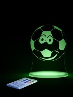 Aloka LED yövalo kaukosäätimellä (jalkapallo)