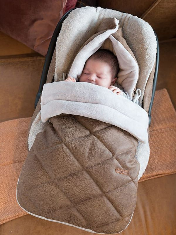Lämpöpussi turvakaukaloon/ vaunuihin | Baby's Only (ROCK taupe)