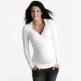 Äitiys- ja imetyspaita Crossover Shirt (valkoinen)