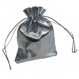 Hopeinen lahjapussi Bola-korulle