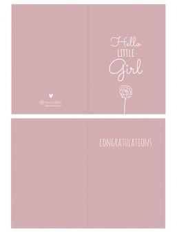 Onnittelukortti Hello Little Girl
