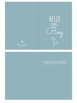Onnittelukortti Hello Little Boy