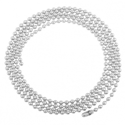 Hopeaketju Big Beads 100cm
