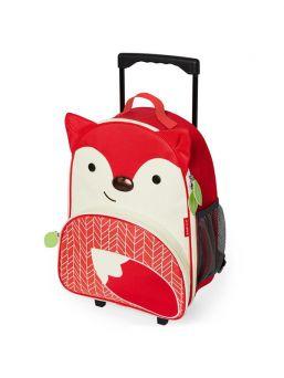 Skip Hop matkalaukku lapselle, jossa pyörät. Lapsen helppo kuljettaa itse.
