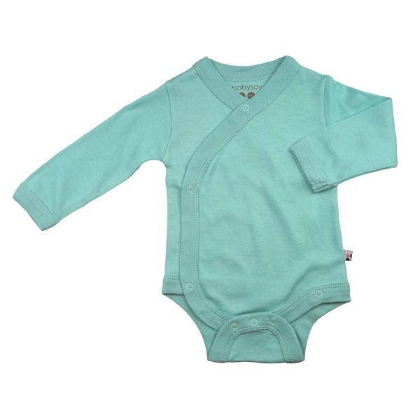 Kaunis yksivärinen Babysoy kimono kietaisubody vauvalle. Kietaisubody on helppo pukea vauvalle - kietaise ja napsauta superhelposti nepparit vain kiinni. Vastasyntyneellä käytetään hyvin usein juuri kietaisumallin bodyjä. Alaosan nepparit helpottavat vaipanvaihtoa, sinun ei tarvitse avata koko bodyä.