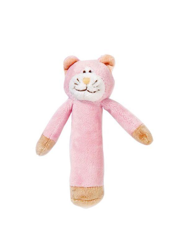 Pehmeä Teddykompaniet Diinglisar eläinhelistin pitää helistin ääntä kun vauva liikuttaa helistintä pienin sormin. Materiaali on turvallista, joten helistintä voi myös purra jos vauvan ikeniä kutittaa.