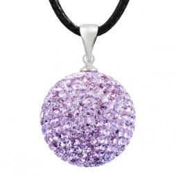 BOLA - kristalli 20mm (vaalea violetti)