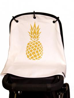 Kurtis Baby Peace vaunusuoja - ananas (gold white)