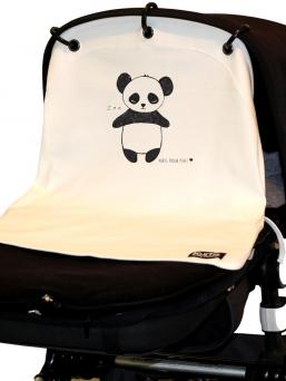 Kurtis Baby Peace vaunusuoja - panda (valkoinen)