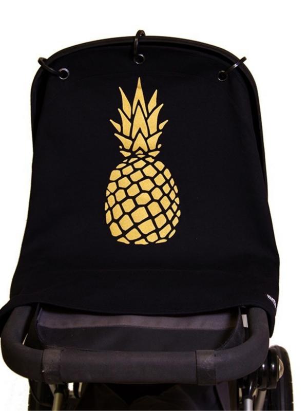 Kurtis Baby Peace vaunusuoja - ananas (gold black)