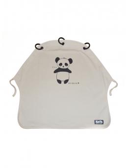 Kurtis Baby Peace vaunusuoja - panda (harmaa)