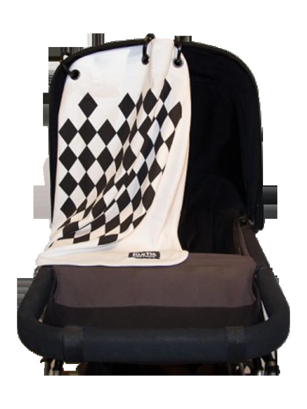 Kurtis Baby Peace vaunusuoja - harlekiini (musta)